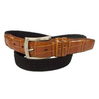 [macyskorea] PGA TOUR Mens Braided Elastic Web Belt, Black, 36/12676040