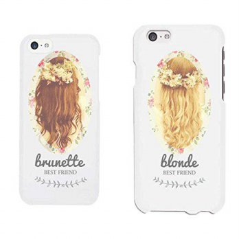 [holiczone] 365 Printing Cute BFF Phone Cases - Brunette and Blonde Best Friends Phone Cov/98745