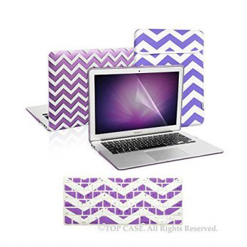 [holiczone] TOP CASE TopCase 4 in 1 Bundle - Chevron Series Ultra Slim Light Weight Rubber/103826