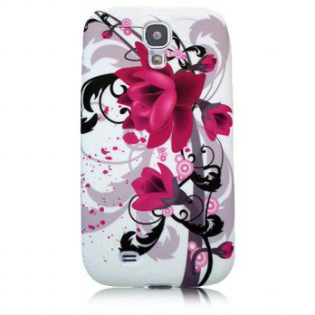 [holiczone] Xtra-Funky Exclusive Soft Silicone Purple Lilly Floral Flower Case For Samsung/104294