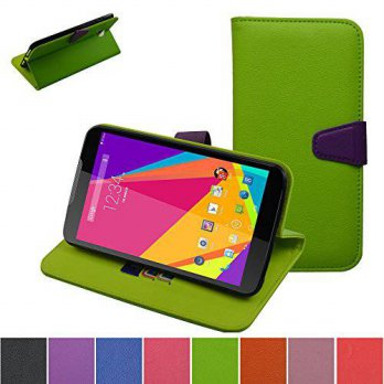 [holiczone] BLU Studio 7.0 Case,Mama Mouth [Stand View] Folio Flip Premium PU Leather [Wal/104528
