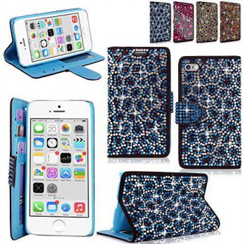 [holiczone] CellularVilla iphone 6 6S Plus Case - Cellularvilla Pu Leather Wallet Diamond /112045