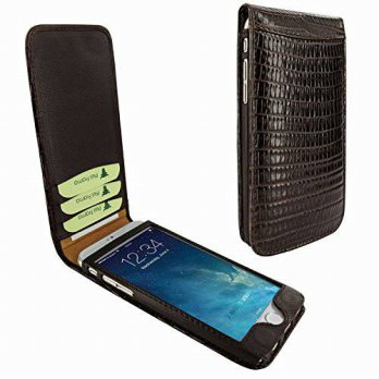[holiczone] Apple iPhone 6 / 6S Piel Frama 682 Brown Lizard Magnetic Leather Case/291329