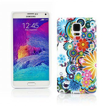 [holiczone] Kit Me Out US IMD TPU Gel Case for Samsung Galaxy Note 4 - Multicoloured Circl/293200