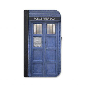 [holiczone] Doctor who inspired tardis iPhone 6 Plus / 6s plus leather wallet case by Litt/304214