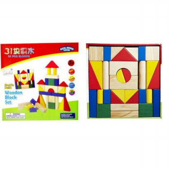 TME Wooden Block Set Creative Toys 31 pcs
