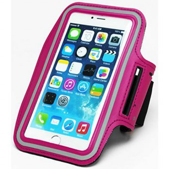 [holiczone] Bastex Runners Dual Armband Case - Hot Pink Design with Key Holder for Apple i/316600