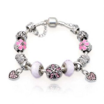 925 sterling silver bracelets Pandora glass beads elements cherry angel female accessories boutique