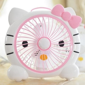 Kipas Angin Portable Mini Karakter Hellokitty