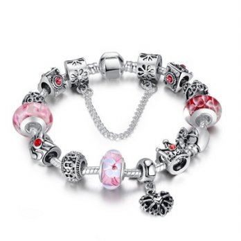 Pandora beaded bracelet element 925 Silver Crown glass female accessories boutique 73bq1 [Milan]