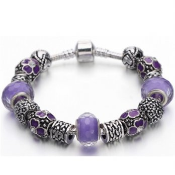 925 sterling silver bracelet Pandora beaded crystal element wild female accessories boutique 73bn102