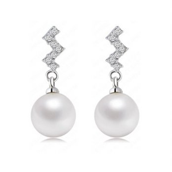 925 sterling silver pearl earrings female ear acupuncture jewelry boutique 73bj102 [Milan]