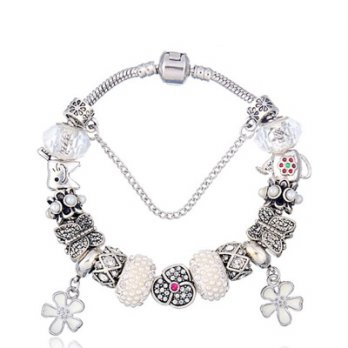 Pandora Sterling Silver beaded bracelet element glass gorgeous and unique female accessories boutiqu