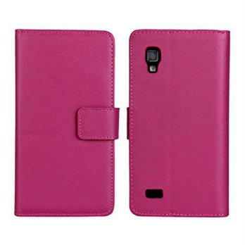 [holiczone] PIZU Leather Case Flip Cover for LG Optimus L9 P760 P765 P768/Hot Pink/232485