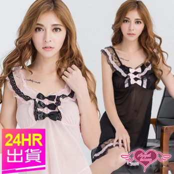 Angels sweetheart sexy lingerie pink / black Sophie sexy one-piece pajamas Japanese