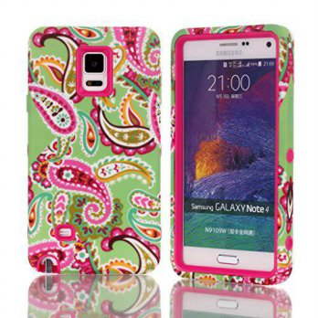 [holiczone] Note 4 Case,Galaxy Note 4 Case,Kaseberry Polka Dot Design 3 in 1 Hybrid Cover /234875