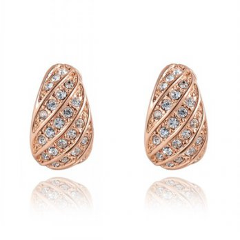 Rose gold diamond stud earrings sterling silver earrings wild female ear acupuncture chic 73gs203 [3