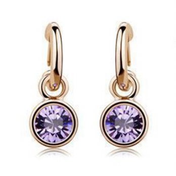 Rose gold diamond stud earrings sterling silver earrings wild female ear acupuncture popular color 7