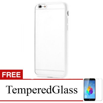 Case for iPhone 6s Plus-6 Plus - Clear + Gratis Tempered Glass - Apple Ultra Thin Soft Case