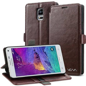 [holiczone] Vena Galaxy Note 4 Wallet Case - VENA [vFolio] Slim Fit Faux Leather Vintage F/249517
