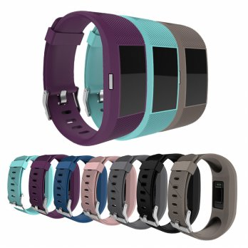 Fashion Sports Silicone Smart Watch Wrist Strap Band For Fitbit Charge 2