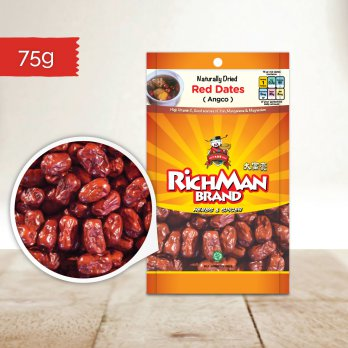 Rich Man Brand Pitted Red Date (Ang Cho) 75 gr
