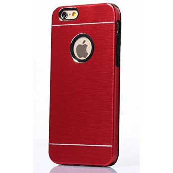 [holiczone] Tat2 - iPhone 6 and 6s Case Red Aluminum and Soft Silicone Protection - Slim F/150126