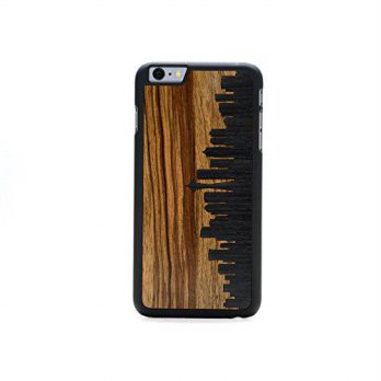 [holiczone] CARVED Seattle Skyline Inlay iPhone 6/6s Plus Slim BK/150428