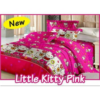 New Bed Cover Set Fata Little Kitty Pink 120X200 / Spf 1023