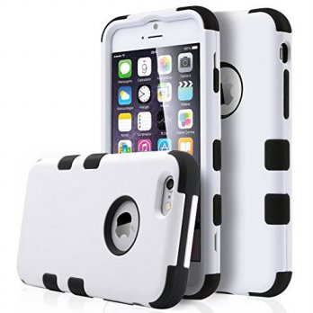 [holiczone] iPhone 6 Plus Case ,ULAK Shock Absorbing Case with Hybrid 3in1 Cover Soft sili/181763