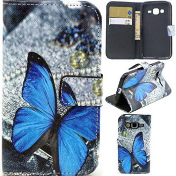 [holiczone] Galaxy Core Prime Case,G360 Case, Gift_Source [Blue Butterfly Pattern] [Stand /182866