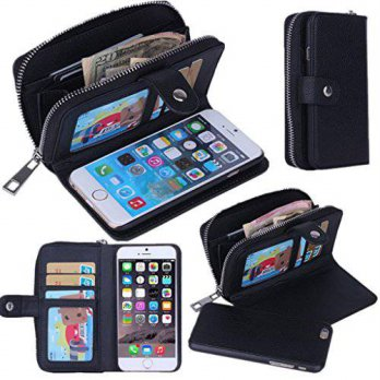 [holiczone] Umiko(TM) iPhone 6 Lady Zipper Clutch Wallet Purse Handbag Clutch Case/Purse/W/189568