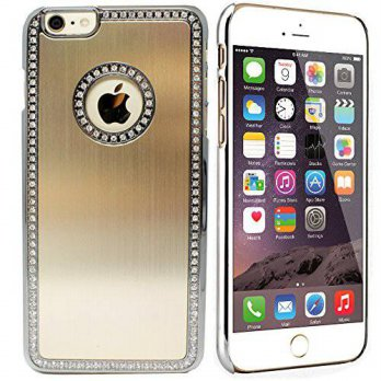 [holiczone] iPhone 6 Plus Bling Case, Comsoon Ultra Slim Luxury Handmake Hybrid Metal Case/85115
