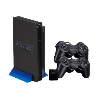 SONY PS2 HDD Internal Seri 18 Metrik Game Console [60 GB + 2 Stick Wireless]