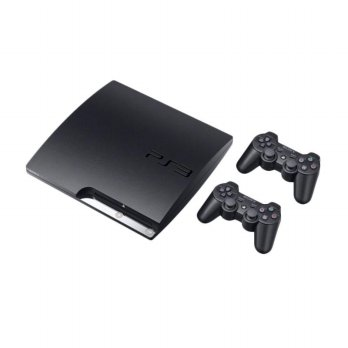 SONY Playstation 3 Slim CFW 4.82 Game Console [120 GB] 2 stick