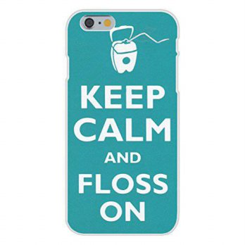 [holiczone] Apple iPhone 6+ (Plus) Custom Case White Plastic Snap On - Keep Calm and Floss/92971