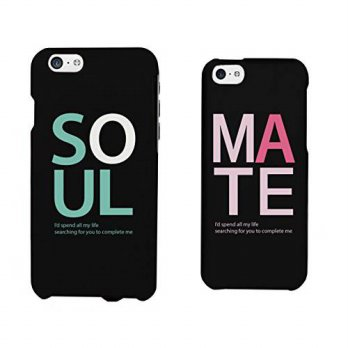 [holiczone] 365 Printing Soul Mate Matching Couple Phone Cases for iphone 4, iphone 5, iph/95928