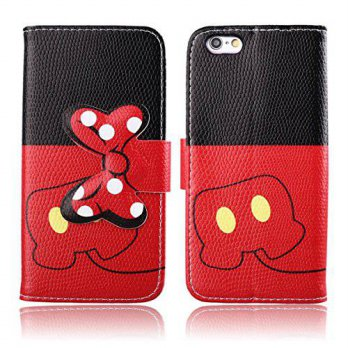 [holiczone] DeLeLe iphone 6 Plus Case,DELELE MOUSE Monster Lovely Stylish Bow Bowknot Wall/99505