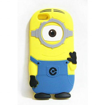 [holiczone] Walsoon 3D Cute Cartoon Despicable Me Minion Soft Silicone Case Cover for Appl/115865