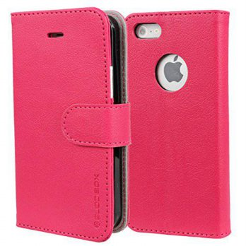 [holiczone] iPhone 5s Case, BUDDIBOX [Wallet Case] Premium PU Leather Wallet Case with [Ki/123505