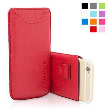 [holiczone] Snugg iPhone 6 Plus Case - Leather Pouch with Lifetime Guarantee (Red) for App/124138
