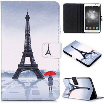 [holiczone] Tab 4 7.0 inch Case, Dteck(TM) Cartoon Design Flip Wallet Stand Case with Card/125126