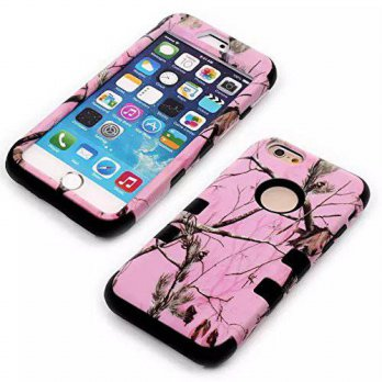 [holiczone] iPhone 6 Case,Ezydigital Carryberry iPhone 6 4.7 Luxury 3 in 1 Pink Tree Camo /127112