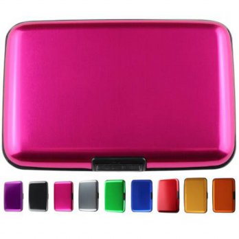 [holiczone] Shell-D RFID Blocking Aluminum Card Holder Case, Pink (001)/133733