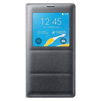 [holiczone] Genuine Original Samsung S-View Flip Cover Case for Galaxy N910 Note 4 (Charco/137740