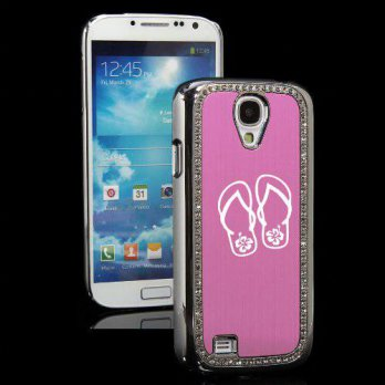[holiczone] MIP Pink Samsung Galaxy S4 S IV i9500 Rhinestone Crystal Bling Hard Back Case /148356