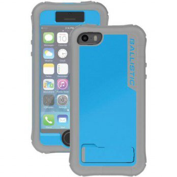 [holiczone] Ballistic Every1 Series Case for iPhone 5/5S - Retail Packaging - Charcoal/Blu/150160