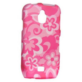 [holiczone] Dream Wireless Hot Pink Flower Protector Case Snap On Hard Cover for Samsung E/150846