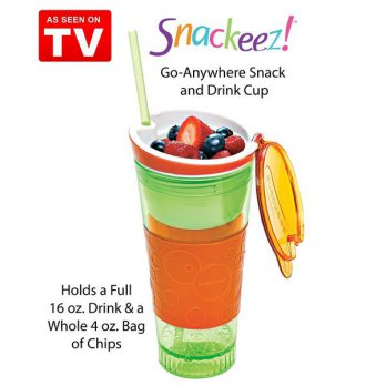 Snackeez 2 In 1 Tumbler ~ All In One Snack Cup ~ As Seen On Tv SJ0056