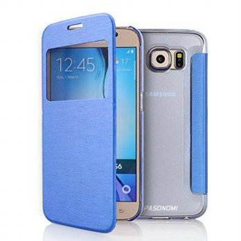 [holiczone] PASONOMI Galaxy S6 Case, Pasonomi [Smart Window View] Samsung Galaxy S6 Folio /168675